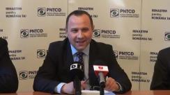 Conferință de presă susținută de președintele PNȚCD, Aurelian Pavelescu, și prim- vicepreședintele partidului, Vlad Moisescu