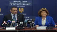 Conferință de presă organizată de Ministerul Muncii, Familiei, Protecției Sociale și Persoanelor Vârstnice privind stadiul revizuirii dosarelor de pensie
