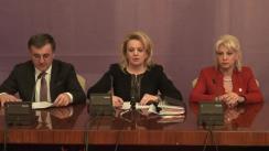 Conferință de presă susținută de grupul parlamentar PP-DD