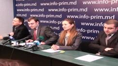 """Reprezentanți ai aripei tinere a PCRM - Ieșirea tinerilor activiști ai PCRM din componența Partidului Comuniștilor și aderarea acestora la Partidul """"Edinaia Moldova - Moldova Unită"""""""