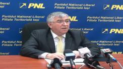 Conferință de presă susținută de vicepreședintele PNL Iași, Victor Chirilă