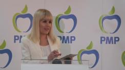 Conferință de presă susținută de deputatul și membrul PMP, Elena Udrea