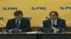 Conferință de presă susținută de președintele PNL, Crin Antonescu, președintele grupului ALDE în Parlamentul European, Guy Verhofstadt, și eurodeputata Norica Nicolai