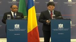 Conferință de presă susținută de Titus Corlățean și Ahmed Ould Teguedi, ministrul afacerilor externe și al cooperării al Republicii Islamice Mauritania