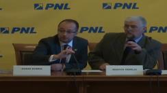 Conferință de presă susținută de senatorii PNL, Marius Obreja și Dorin Dobra