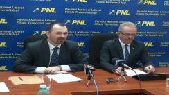 Conferință de presă susținută de Marius Dangă, președintele filialei municipale PNL Iași și Anton Doboș, deputat PNL