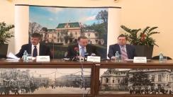 Conferință de presă susținută de Gheorghe Nichita, primarul municipiului Iași, Ioan Nani, directorul Antibiotice SA și Paul Butnariu, președintele CCIASI