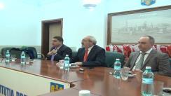 Conferință de presă susținută de Romeo Olteanu, prefectul județului Iași