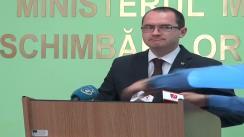 Conferință de presă susținută de ministrul Mediului și Schimbărilor Climatice, Attila Korodi, privind reducerea poluării apelor și solului cu nutrienți din surse agricole