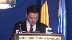 Conferință de presă susținută de ministrul Transporturilor, Dan Șova