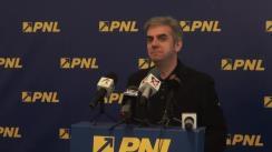 Conferință de presă susținută de vicepreședintele Partidului Național Liberal, Eugen Nicolăescu