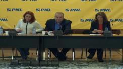 Conferință de presă susținută de deputații PNL - George Scutaru, Cristina Pocora, Alina Gorghiu
