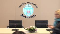 """Conferință de presă susținută de primarul municipiului București, Sorin Oprescu, cu tema """"Proiectul privind implementarea sistemului de transport cu bicicleta în zona centrală a Municipiului București"""""""