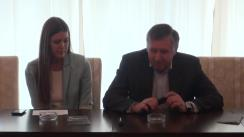 Întâlnirea fostului prim-ministru al Republicii Moldova, Ion Sturza, cu studenții basarabeni din București