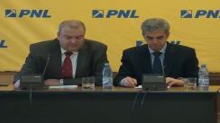 Conferință de presă susținută de deputații PNL - George Scutaru, Cristina Pocora și Eugen Nicolăescu