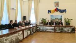 Conferință de presă susținută de primarul municipiului Iași, Gheorghe Nichita