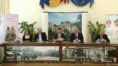 Conferință de presă susținută de viceprimarul municipiului Iași, Mihai Chirica