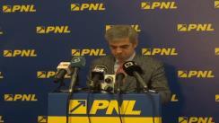 Conferință de presă susținută de vicepreședintele PNL, Eugen Nicolăescu