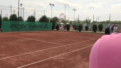 """Meciul de antrenament între Ruxandra Dragomir și Elena Udrea pentru """"finala"""" cu Ilie Năstase"""