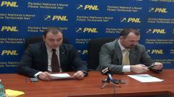 Conferință de presă susținută de Marius Dangă, coordonatorul campaniei electorale din partea PNL Iași și Andrei Muraru, candidat la alegerile europarlamentare