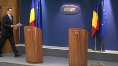 Briefing susținut de prim-ministrul României, Victor Ponta