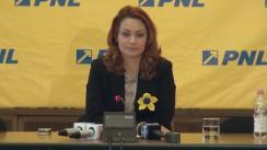 Conferință de presă susținută de purtătorul de cuvânt al PNL, Cristina Pocora