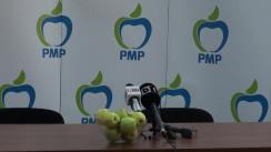 Conferință de presă susținută de deputatul Partidului Mișcarea Populară, Elena Udrea