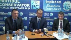 Conferință de presă susținută de filiala Iași a Partidului Conservator