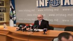 Presedintele CCA, Gheorghe Gorincioi sustine o conferinta de presa privind totalurile activitatii CCA pe parcursul anului 2009