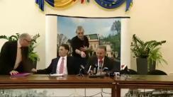 Conferință de presă susținută de ministrul transporturilor, Dan Șova și primarul municipiului Iași, Gheorghe Nichita