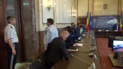 Videoconferință organizată de MAI privind stadiul măsurilor dispuse pentru buna desfășurare a alegerilor europarlamentare din data de 25 mai