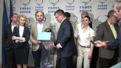Conferință de presă susținută de conducerea Partidului Forța Civică