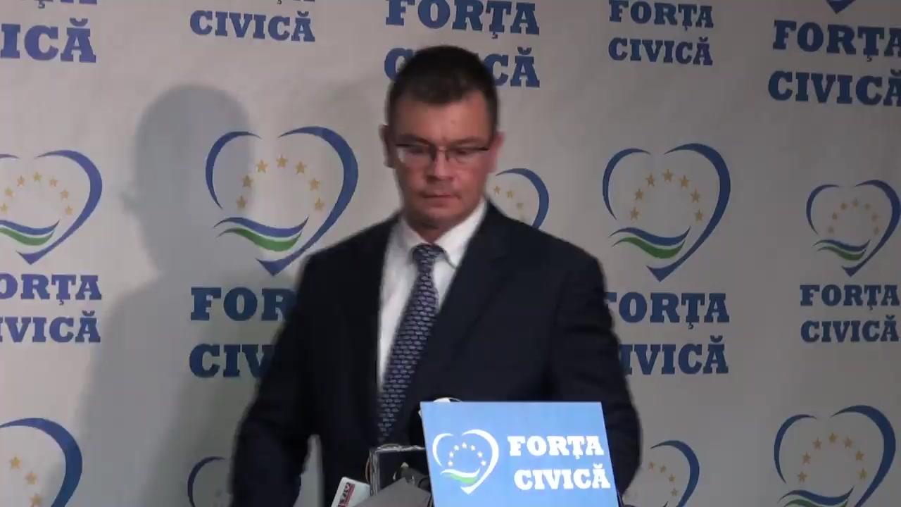 Conferință de presă susținută de președintele Partidului Forța Civică, Mihai Răzvan Ungureanu