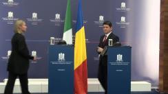 Conferință de presă susținută de Titus Corlățean și Federica Mogherini, ministrul Afacerilor Externe al Italiei