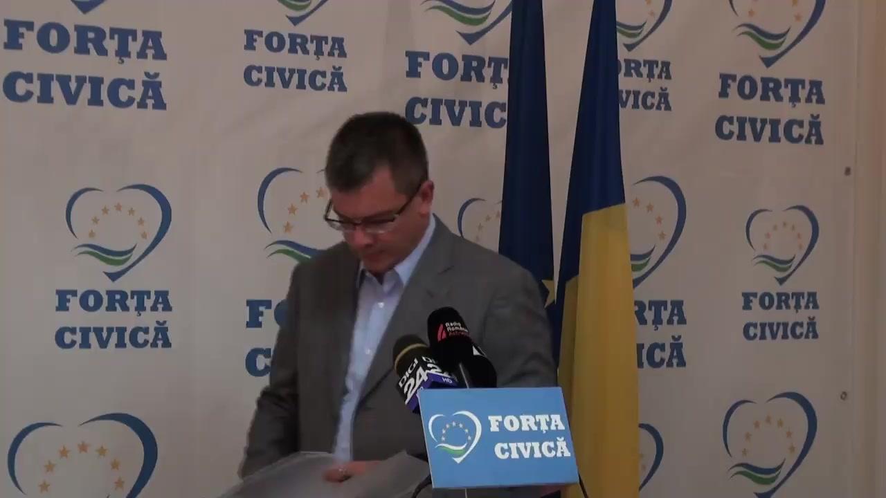 Conferință de presă susținută de președintele Partidului Forța Civică, Mihai-Răzvan Ungureanu, privind rezultatul Biroului Permanent Național al partidului