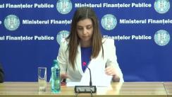 Conferință de presă susținută de ministrul finanțelor publice, Ioana-Maria Petrescu, privind activitatea sa la trei luni de la preluarea mandatului