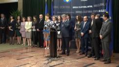 Ceremonia de înmânare a certificatelor de europarlamentar