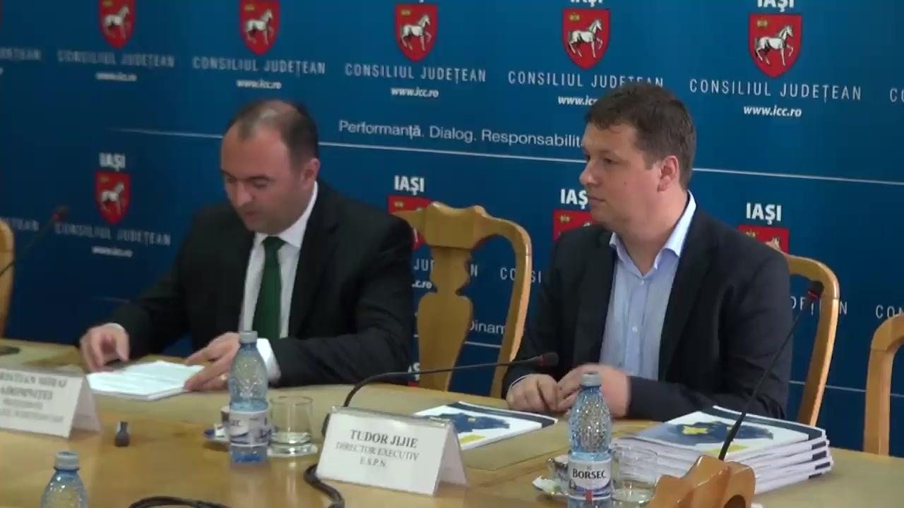 Conferință de presă susținută de Cristian Adomniței, președintele Consiliului Județean Iași și Tudor Jijie, directorul Asociației Euroregiunea Siret-Prut-Nistru