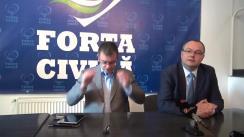 Conferință de presă susținută de președintele Partidului Forța Civică, Mihai-Răzvan Ungureanu, la Iași