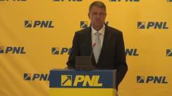 Conferință de presă după Biroul Politic Național al PNL din 11 iunie 2014