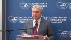Conferință de presă susținută de președintele Autorității de Supraveghere Financiară, Mișu Negrițoiu, privind rezultatele pieței asigurărilor