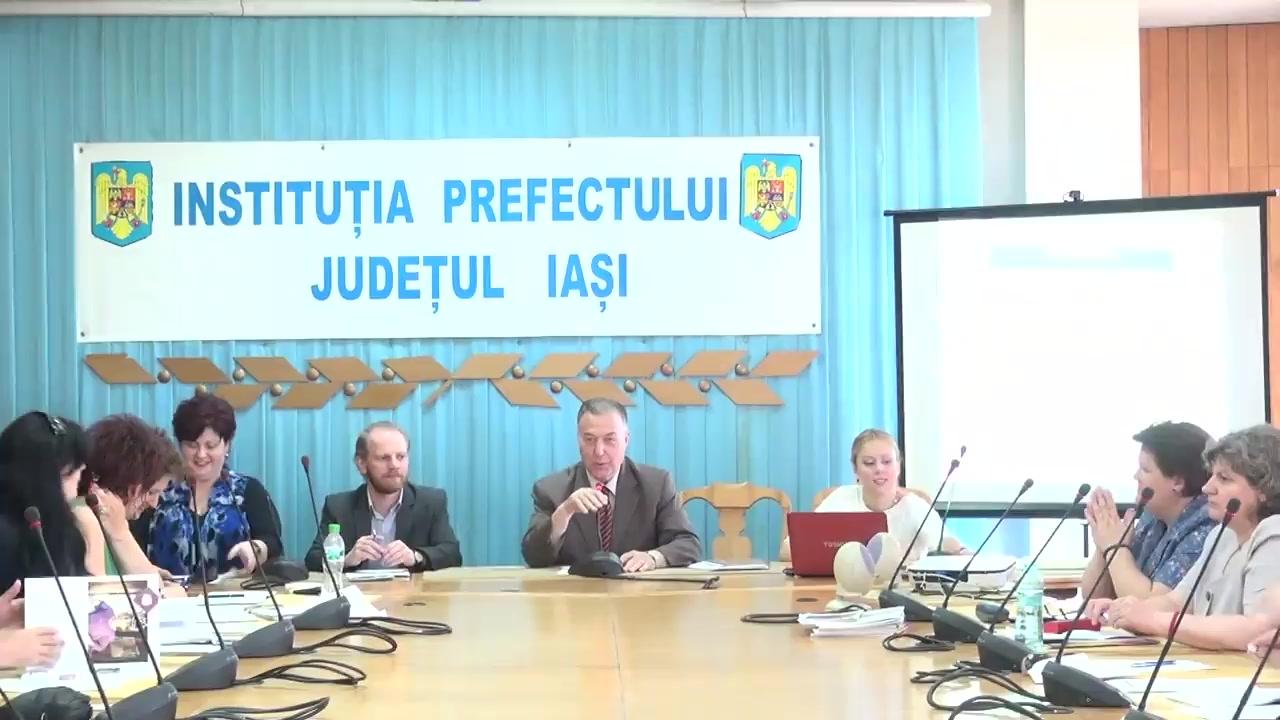 Întâlnirea comisiei ONG din cadrul CDES Iași la Instituția Prefectului - Județului Iași