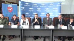 Conferință de presă susținută cu prilejul lansării cursei aeriene directe Iași-Milano și a show-ului AeroNautic
