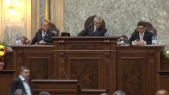 Sesiunea solemnă a Senatului consacrată aniversării a 150 de ani de la constituirea Senatului României