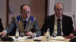 Conferință de presă cu ocazia celui de-al doilea Congres al Uniunii Mondiale Masonice Tradiționale
