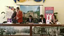 Conferință de presă susținută de organizatorii Festivalului Internațional al Educației Iași 2014 și de protagoniștii concertului Eurovision Show