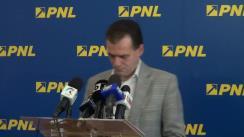 Conferință de presă susținută de vicepreședintele Partidului Național Liberal, Ludovic Orban