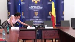 Conferința de presă prilejuită de lansarea ghidului privind dezvoltarea economiei sociale
