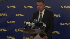 Conferință de presă susținută de președintele PNL, Klauss Iohannis