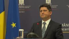 Declarațiile ministrul Afacerilor Externe, Titus Corlățean, la întoarcerea din vizita oficială în Muntenegru